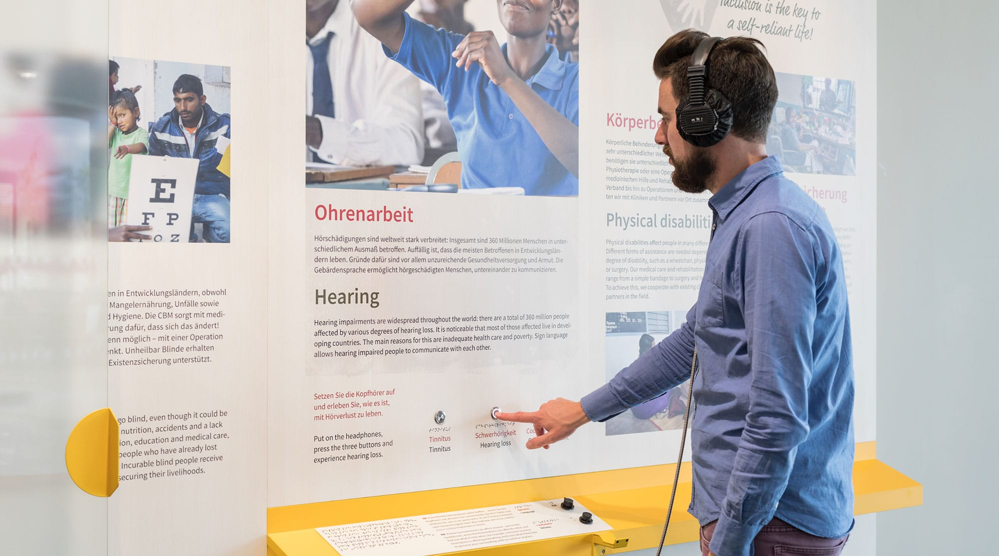 Audio station for simulation of hearing impairments