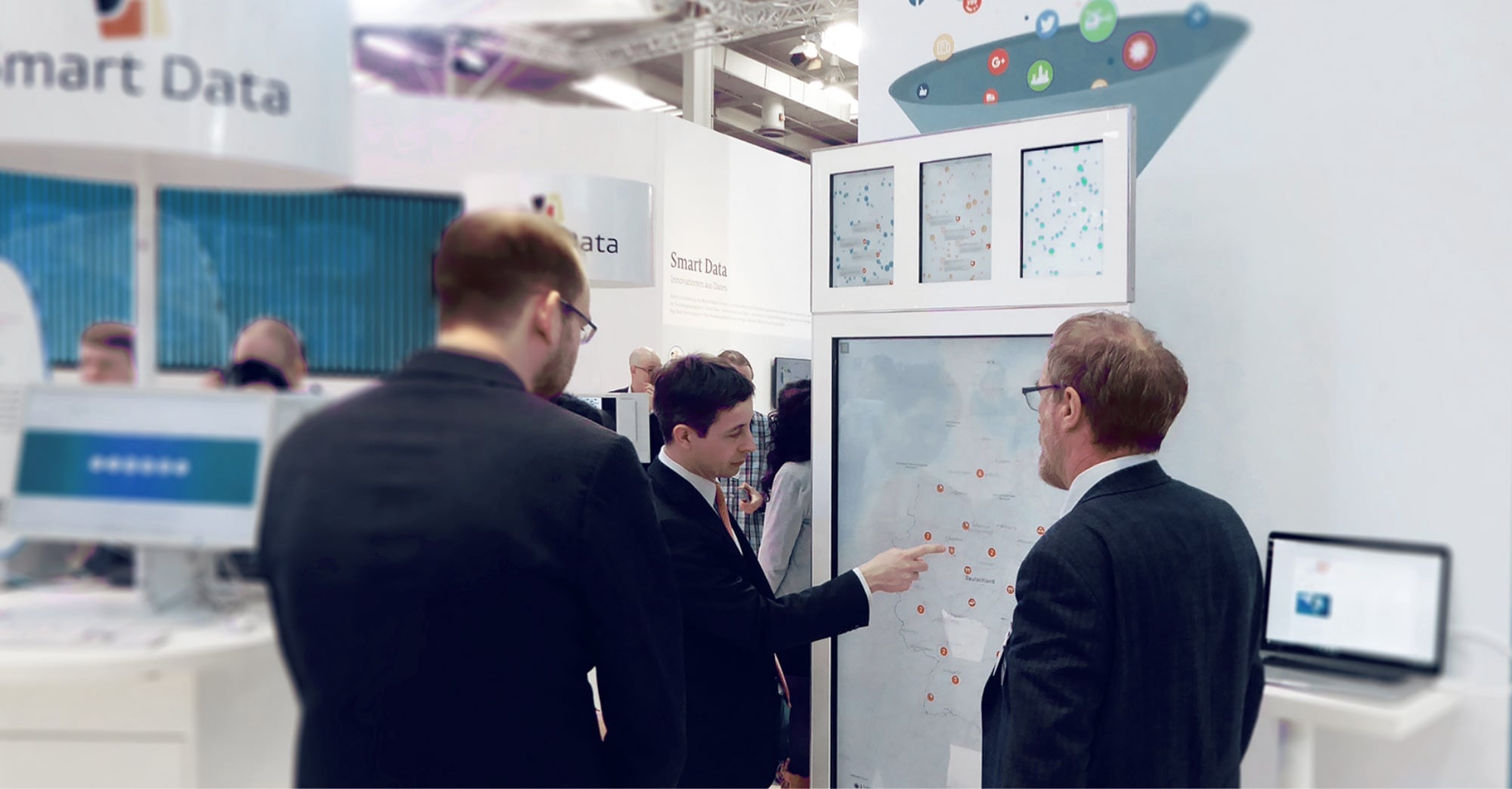 Interactive big data visualization at the CeBIT trade show