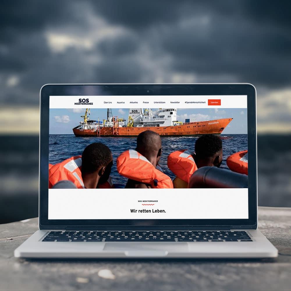 Web design for humanitarian organisation