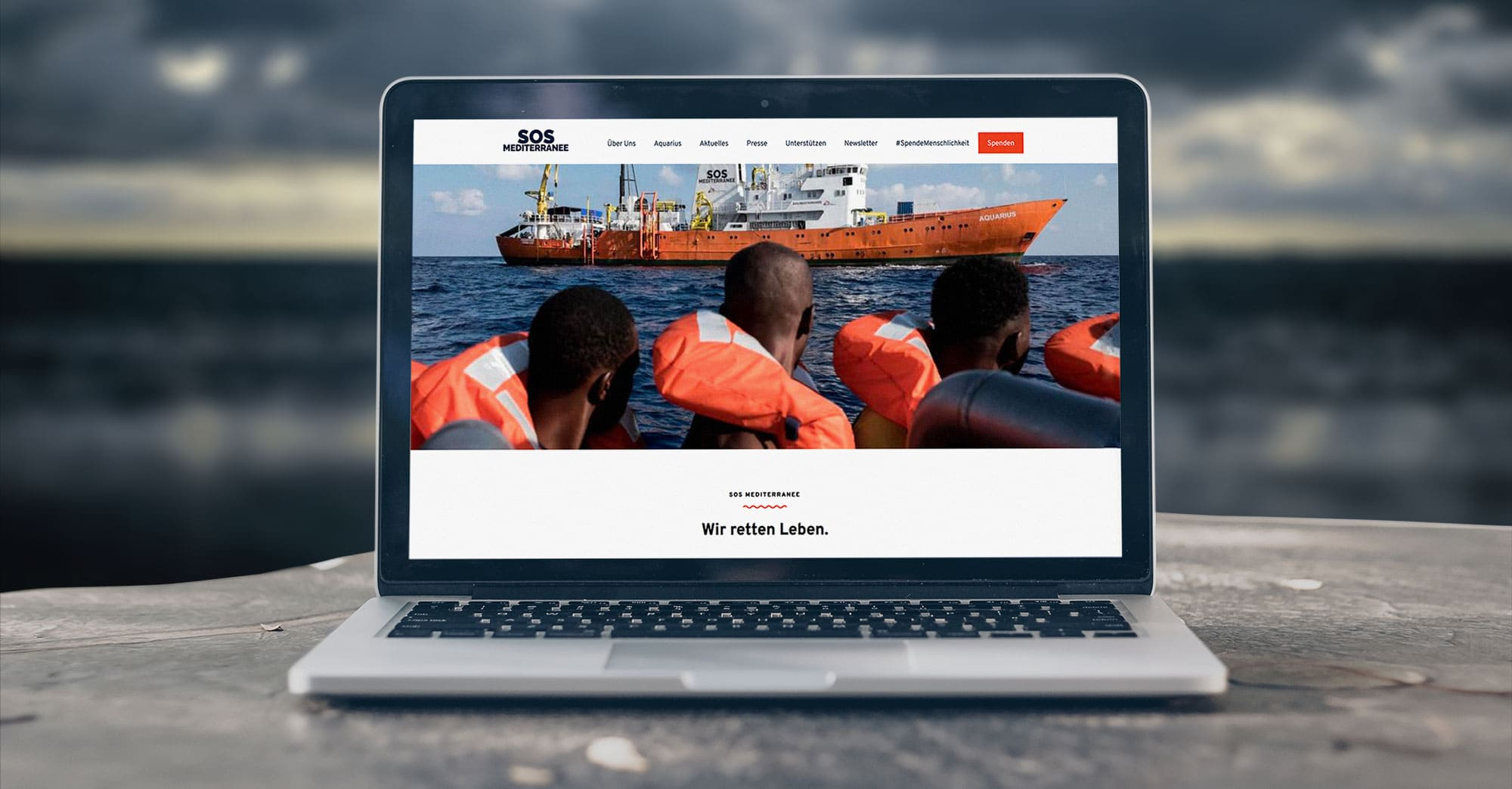 Web design for humanitarian organisation