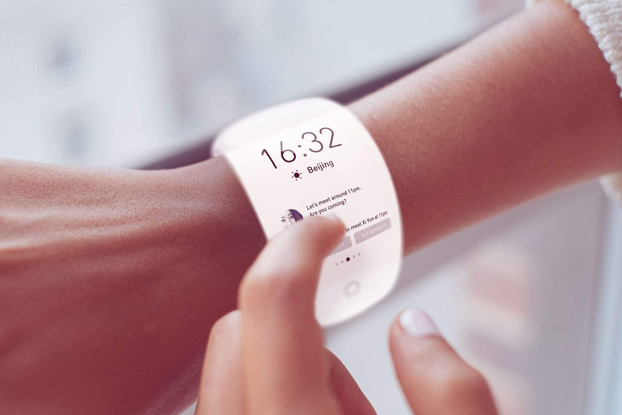 Concept visualization of a smart watch interface