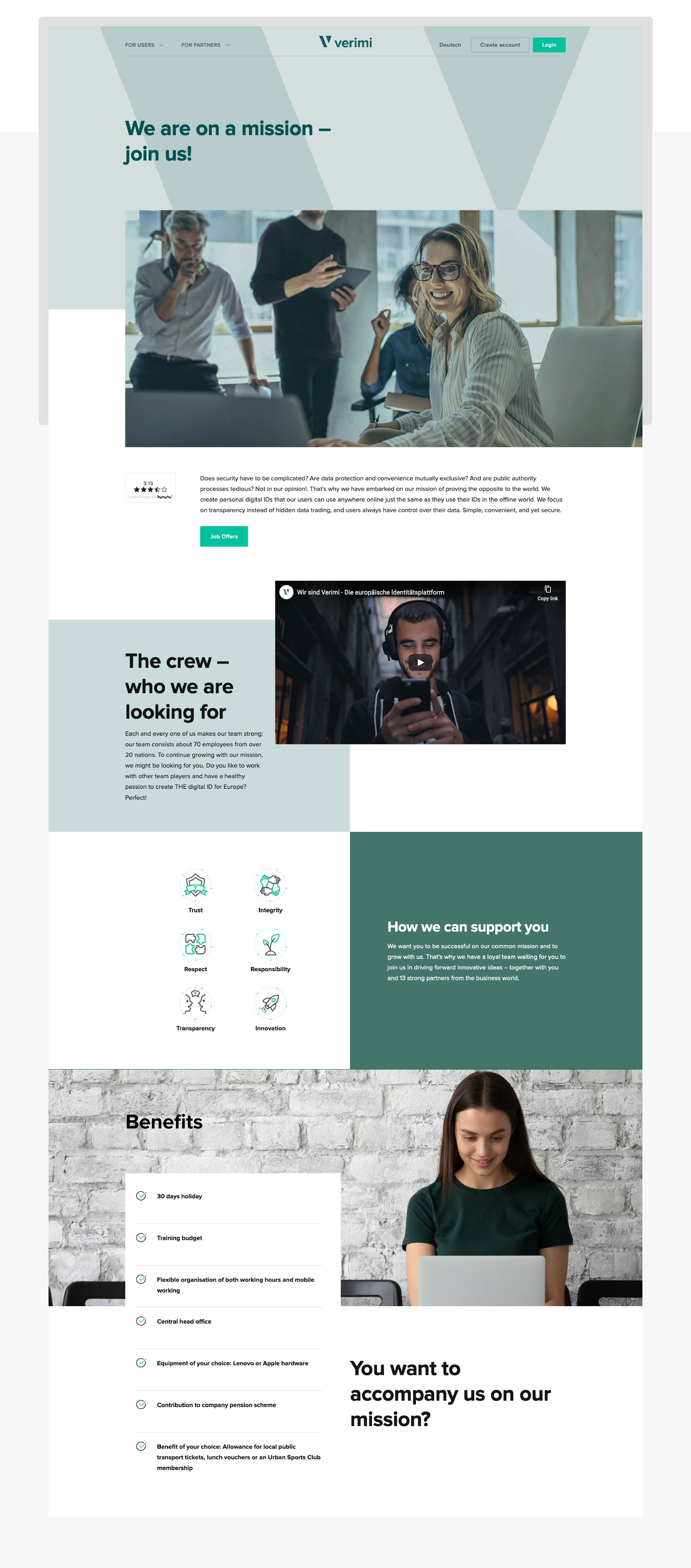 Employer branding career webdesign