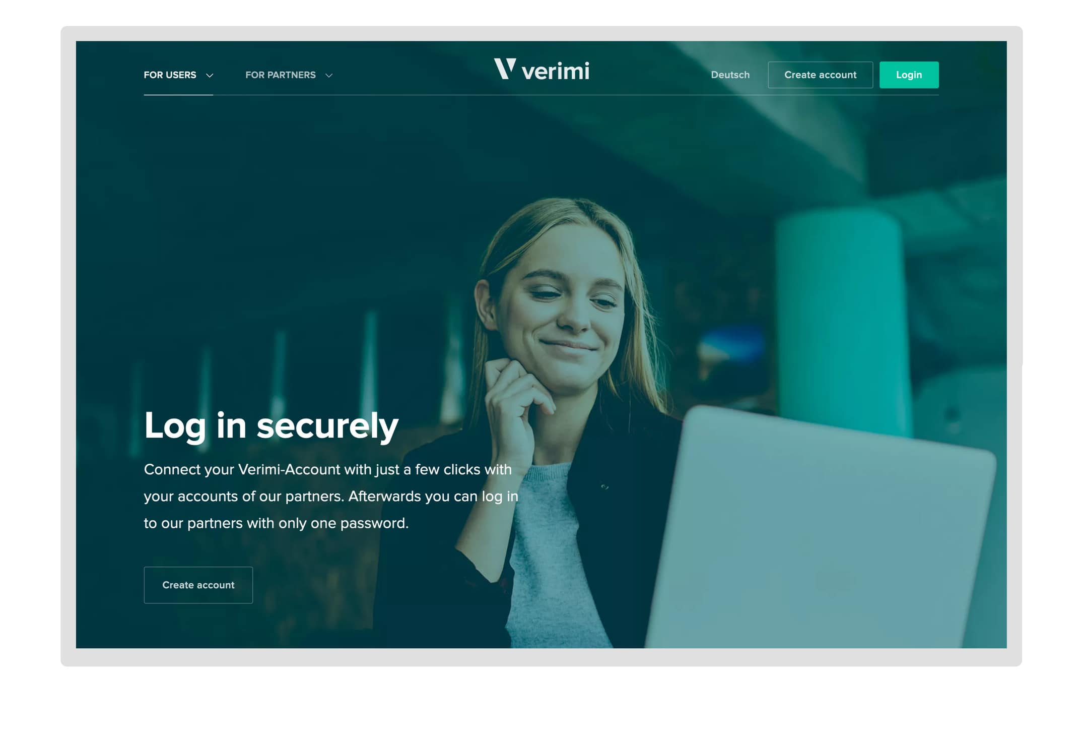 Verimi product landing page